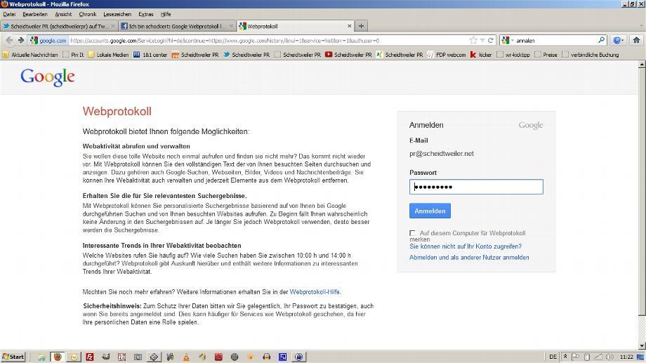 Google Webprotokoll Löschen 1