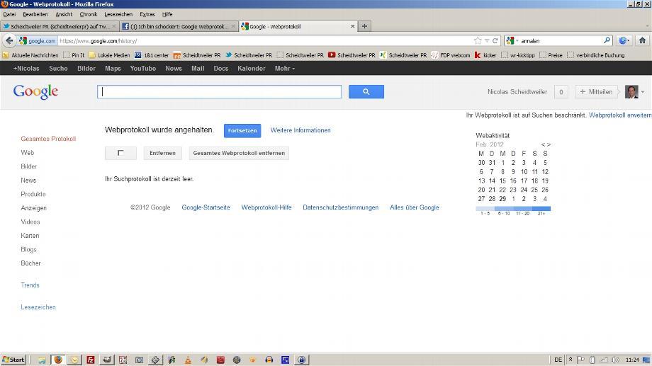Google Webprotokoll Löschen 2