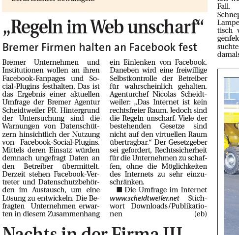 Scheidtweiler PR im Weserreport 02.10.11 - Medienspiegel