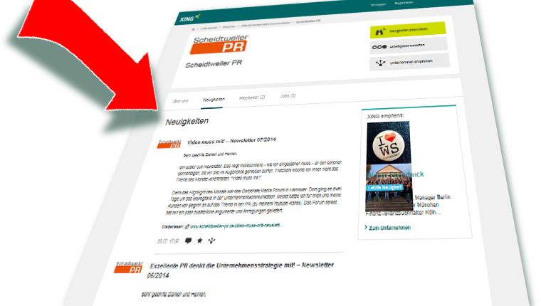 Wie nutzen Sie XING - Blogparade Staffxperts GmbH