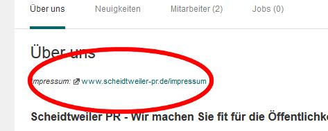 Xing - Unternehmens-Profil Impressum - Bloparade Staffxperts GmbH