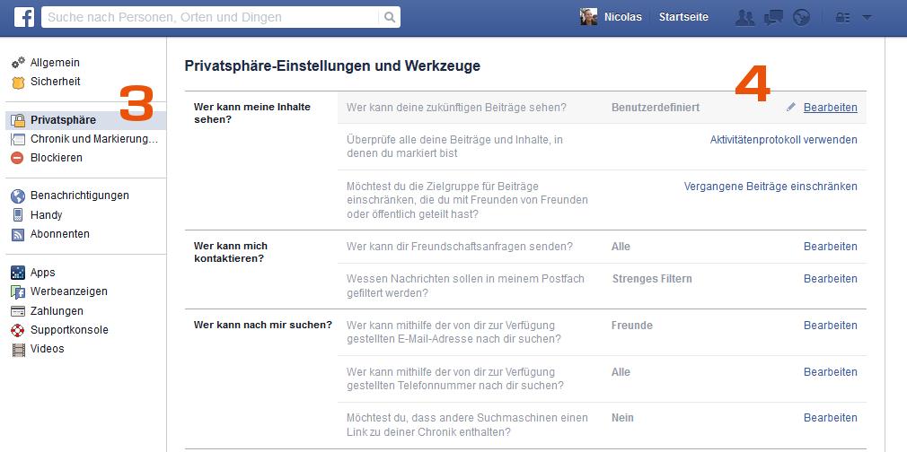 Facebook - Inhalte benutzerdefiniert teilen - PR Bremen