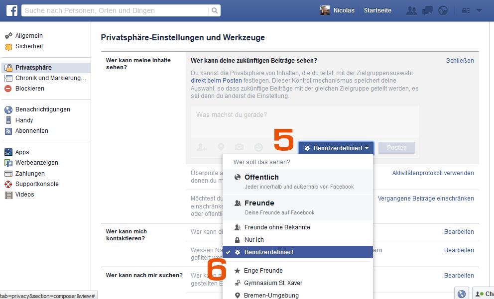 Facebook - Zukünftige Beiträge nicht sehen - Agentur Bremen
