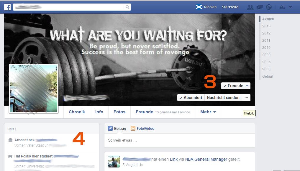 Facebook- Freundschaftsanfrage - Standard - Freunde und abonniert - Tipp von Scheidtweiler PR