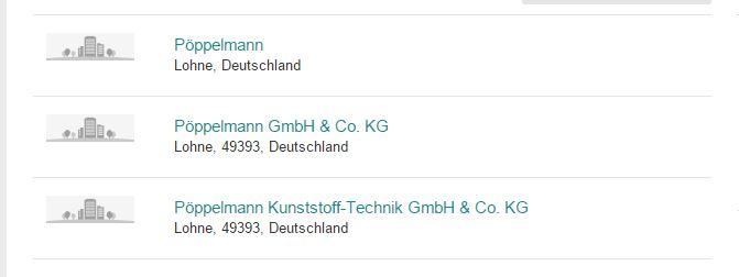 Beispiel Pöppelmann bei Xing - Unternehmensnamen richtig eintragen für die PR - Scheidtweiler Blog Bremen