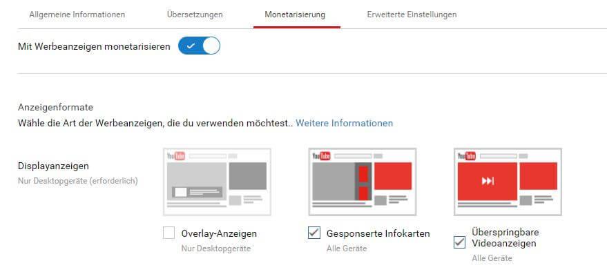 Monetarisierung von Youtube-Videos - PR-Newsletter
