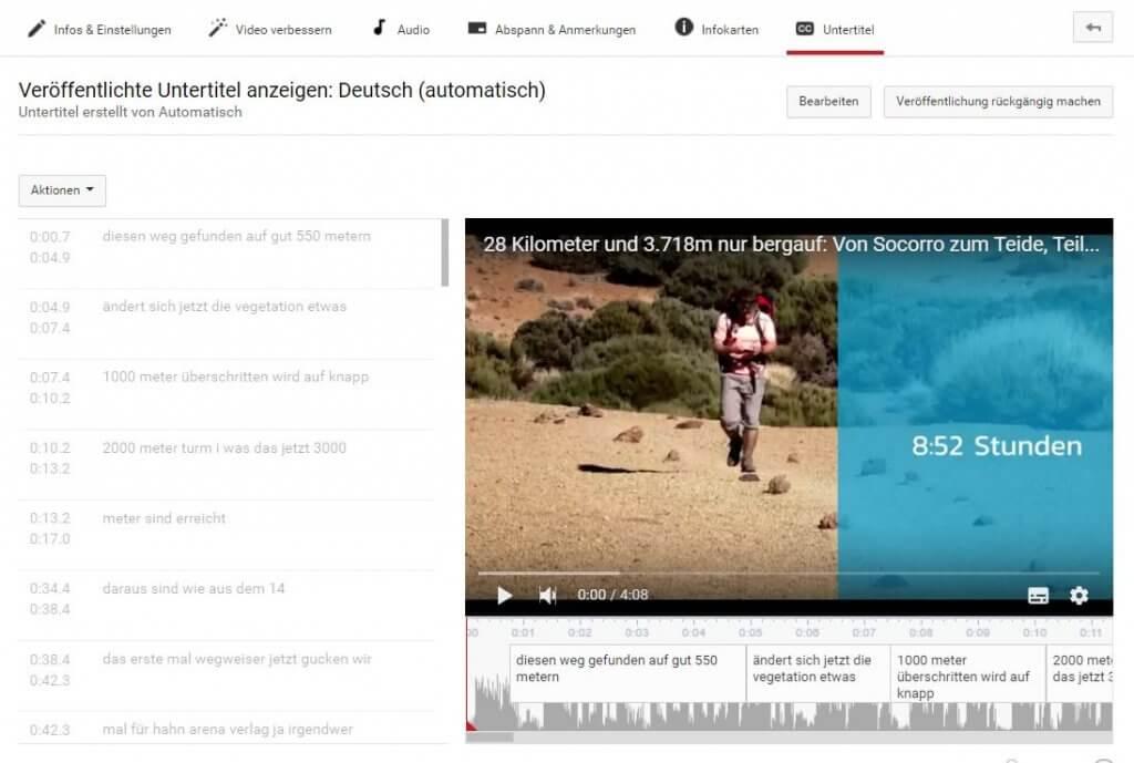 Untertitel in Youtube-Videos - PR-Newsletter
