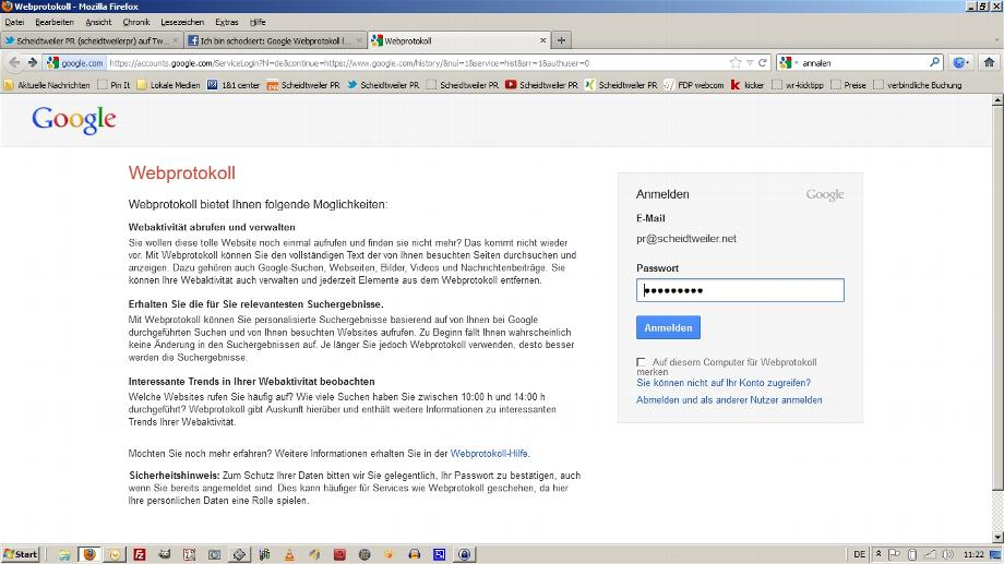 Google Webprotokoll löschen (1)