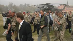 Angela Merkel zu Besuch in Kabul 2007