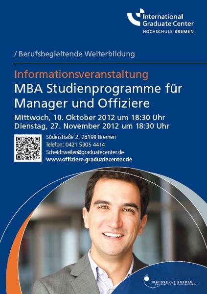 Plakat MBA für Offiziere