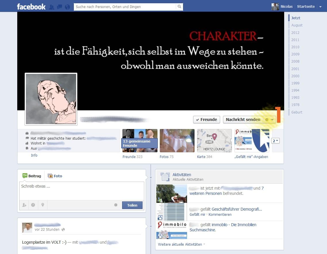 Facebook - Person blockieren 1