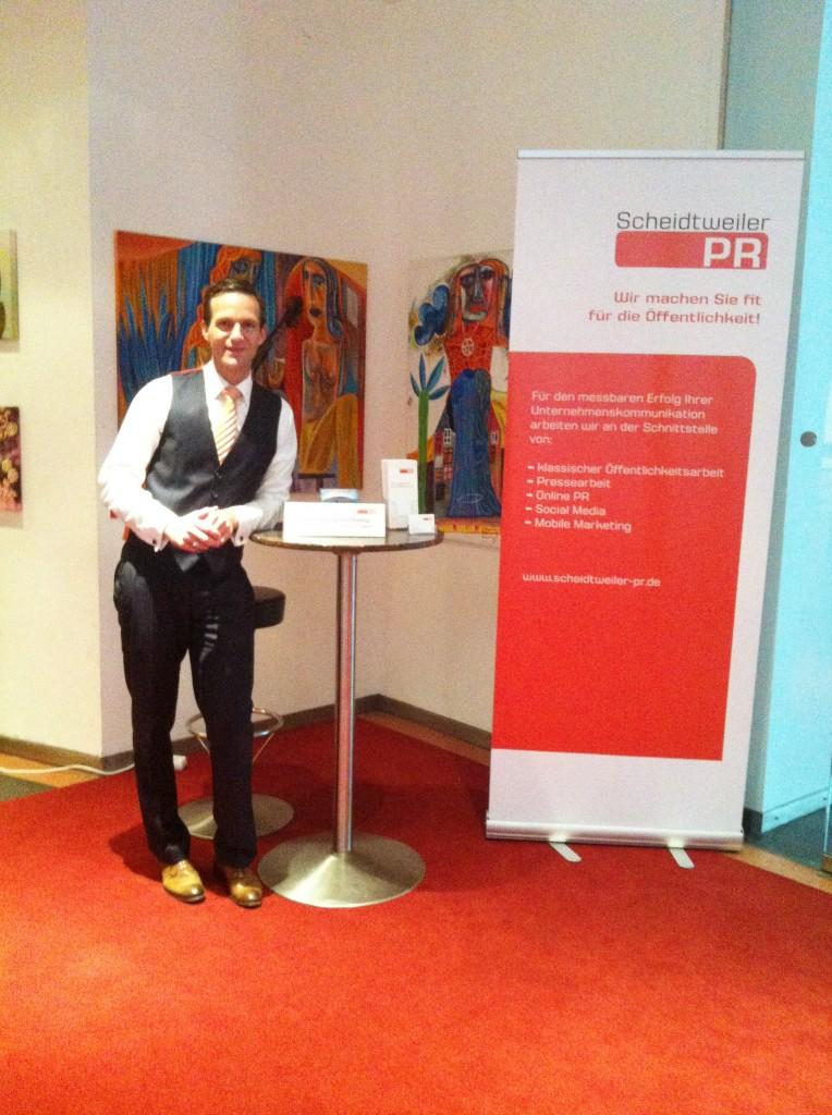 Scheidtweiler PR beim B.E.G.IN Gründungstag 2012 in Bremen