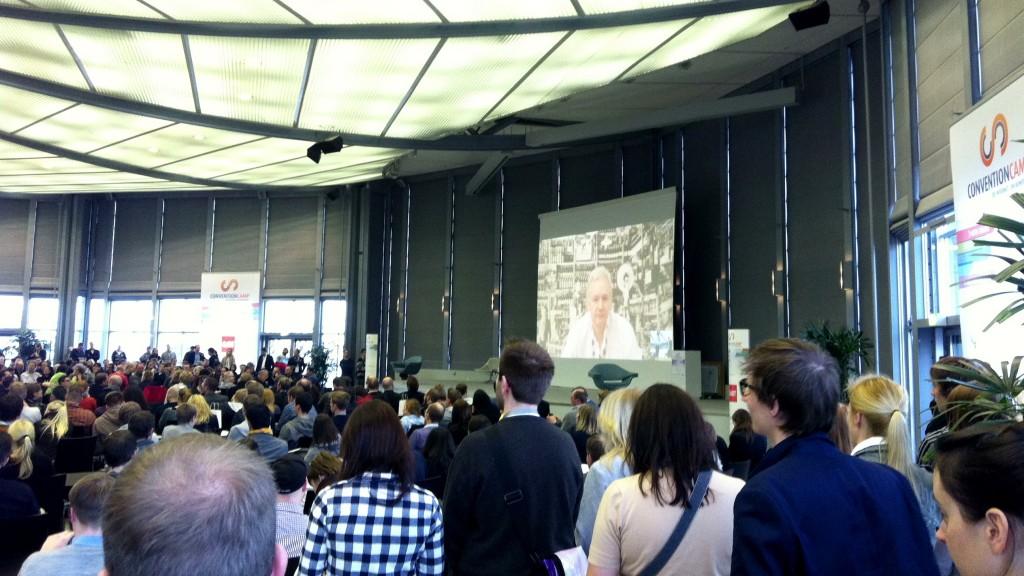 Durchschnitt beim Conventioncamp 2012 - Julian Assange