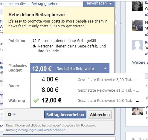 Einrichten eines Promoted Posts auf einer Facebook Fanpage - Scheidtweiler PR