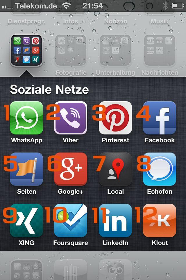 Scheidtweiler PR - Social Media mobil (GoogleLocal, Twitter, Xing, Foursquare, LinkedIn, Klout)