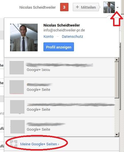 Google+-Unternehmensprofil anlegen 1 - Scheidtweiler PR