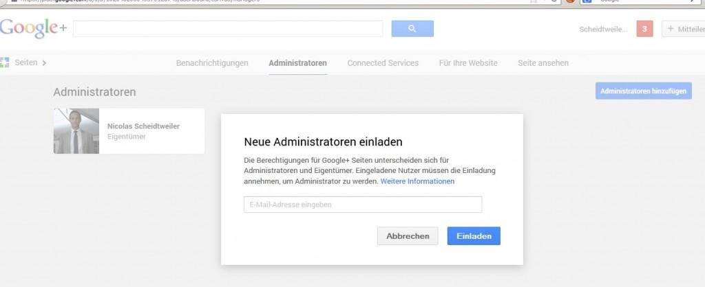 Youtube mit Administrator-Einladung - Scheidtweiler PR