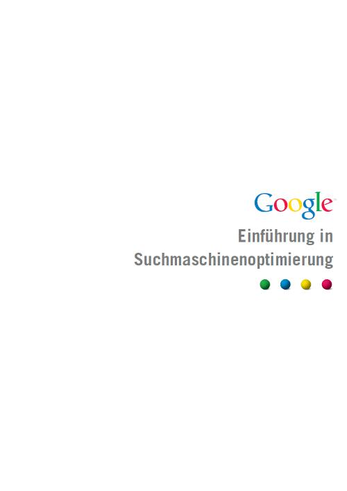 Google - Einführung in die SEO