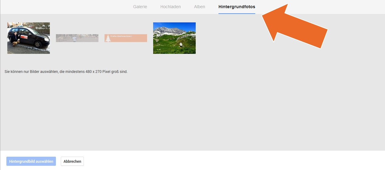 GooglePlus mit neuem Profil-Bild Änderung Schritt 2  - Scheidtweiler PR Bremen
