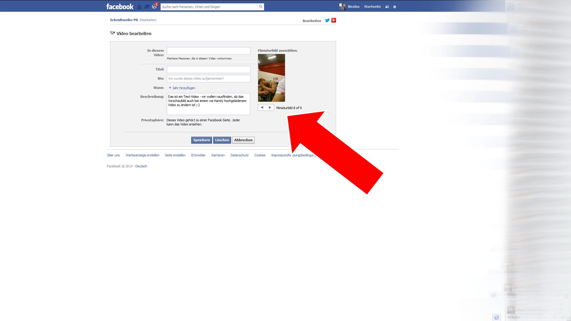 Video bei Facebook bearbeiten Schritt 3 - Scheidtweiler PR Bremen
