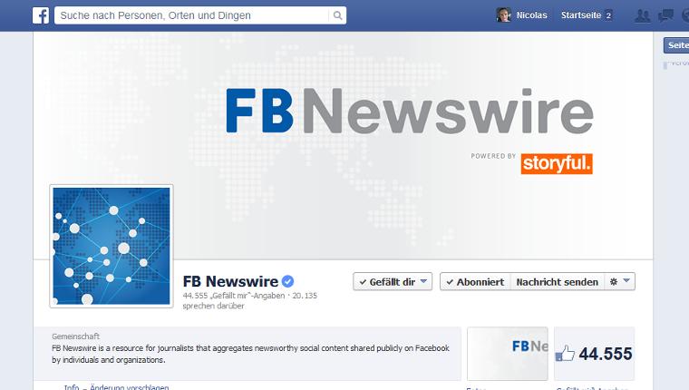 Newswire - Facebook mit neuem Angebot für Journalisten