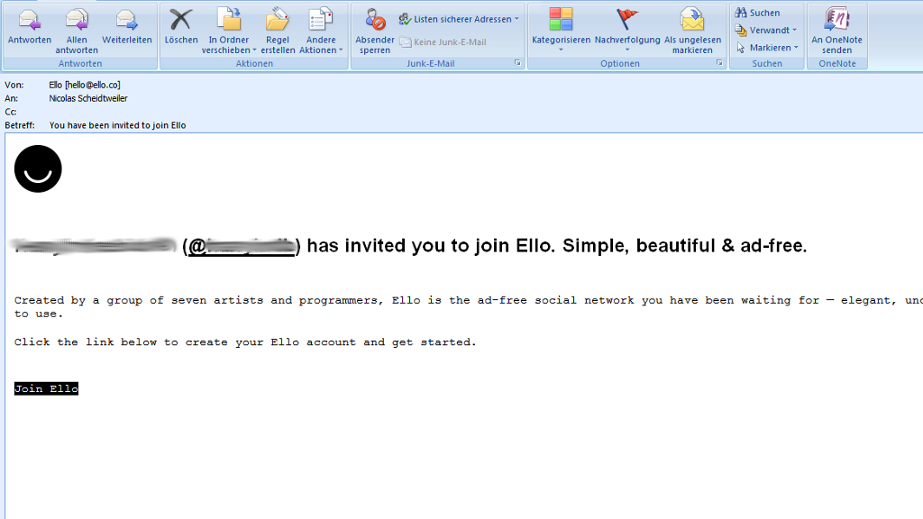 Ello - Einladung in das soziale Netzwerk - Social Media-Tipp