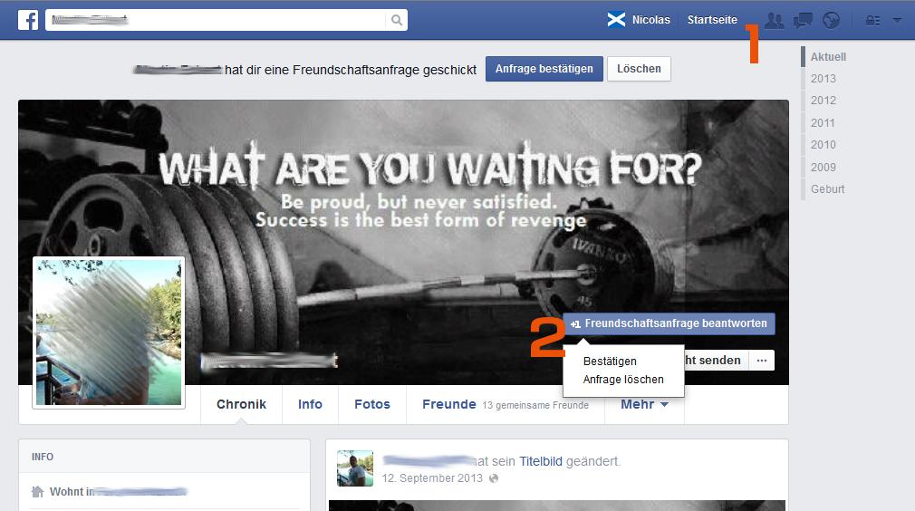 Facebook - Freundschaftsanfrage bestätigen - Tipp von Scheidtweiler PR