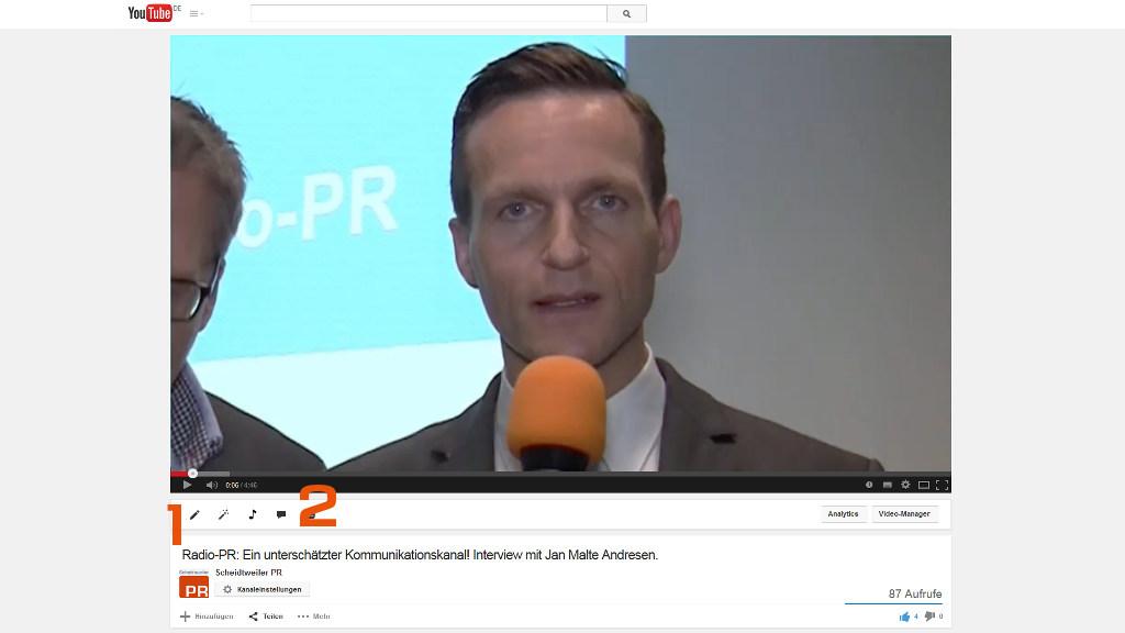 Artikel: Youtube-Videos verknüpfen - Informationen und Einstellungen - PR-Blog aus Bremen