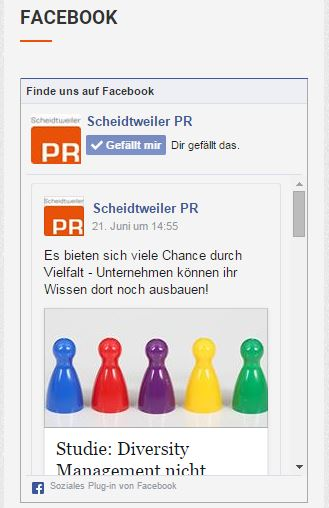 Alte Facebook Like Box im Sidebar