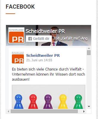 Neues Facebook Page Plugin im Sidebar