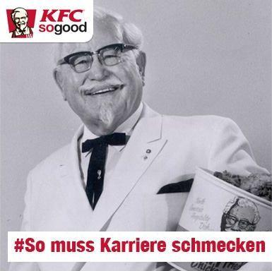Hashtag-Fail bei KFC Deutschland-Karriere auf Facebook - Quelle: KFC