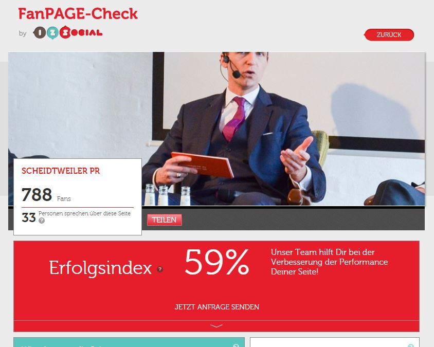 Social-Media-Controlling mit dem Fan-Page-Check von 1-2-Social