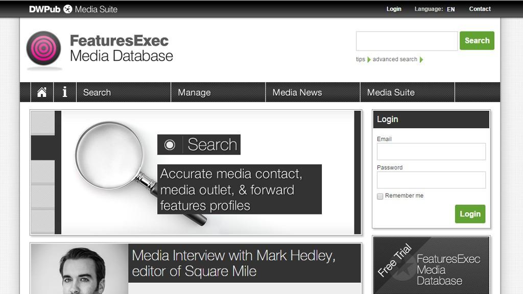 Featuresexec-Mediendatenbank vorgestellt - Scheidtweiler PR-Blog