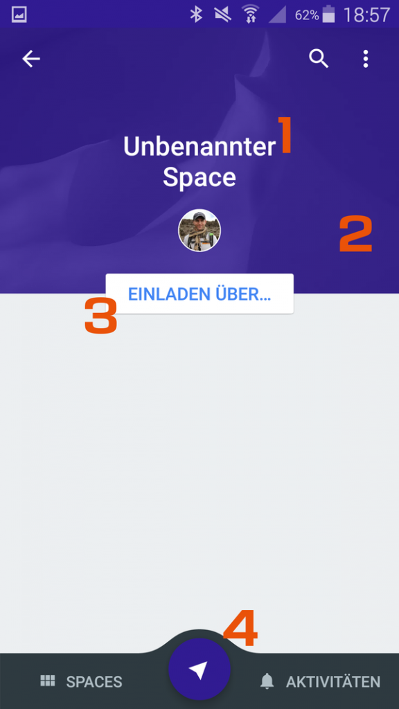 Google Spaces App - 3 - Neuen Space anlegen