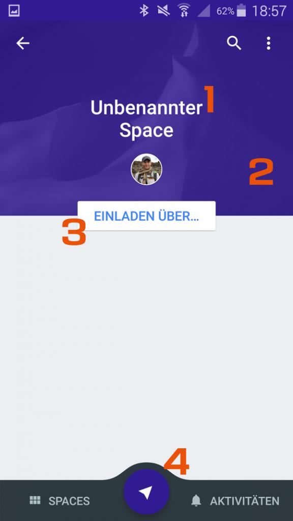 Google Spaces App - 3 - Neuen Space anlegen