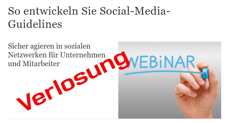 Jetzt teilnehmen - Gewinnspiel Springer Gabler-Webinar Social-Media