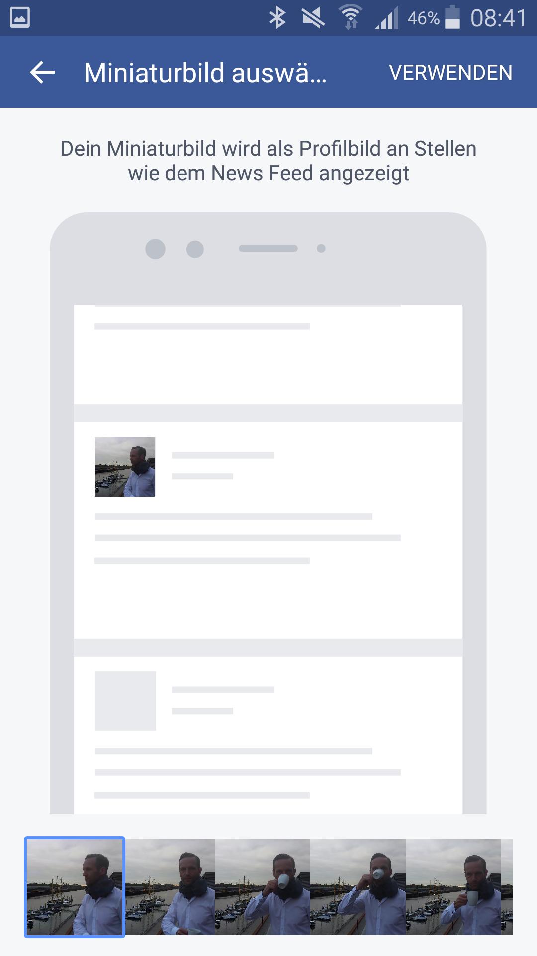 Screenshot: Das Facebook-Profil-Bild als Video - Und es bewegt sich doch - PR-Blog Bremen - Schritt 3