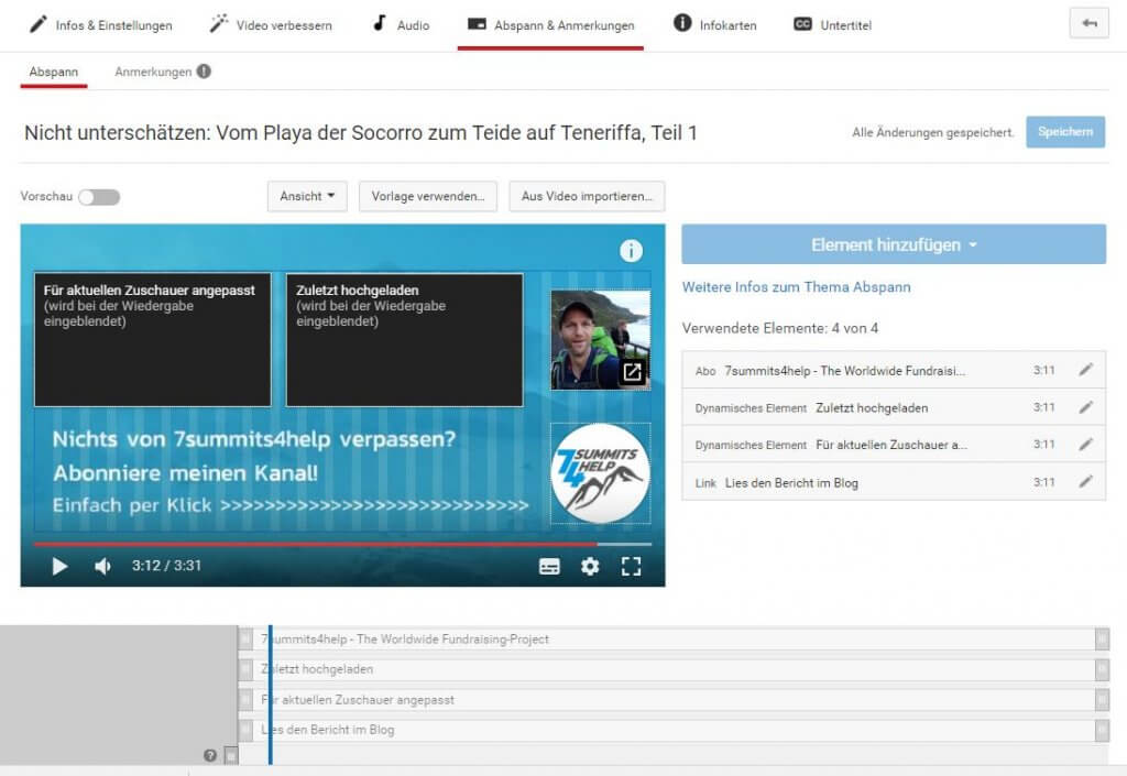 Abspann von Youtube-Videos - PR-Newsletter