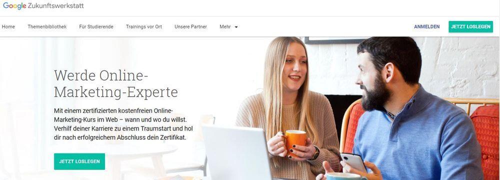Werde Online-Marketing-Experte mit Google - Zukunftswerkstatt