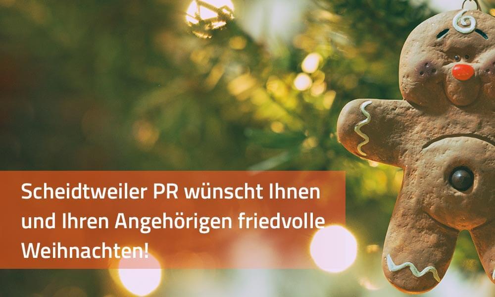 Scheidtweiler PR wünscht frohe Weihnachten 2017 - PR-Blog