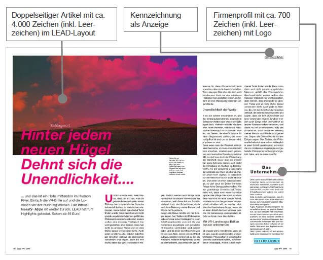 Advertorial mit Kennzeichnung - PR-Blog, Quelle: www.lead-digital.de