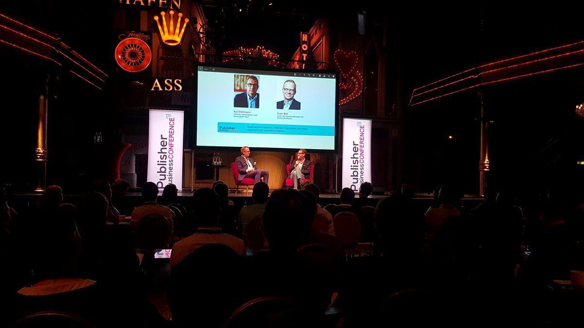 Ex-Bild-Chef Kai Diekmann auf der Publisher Business Conference in Hamburg