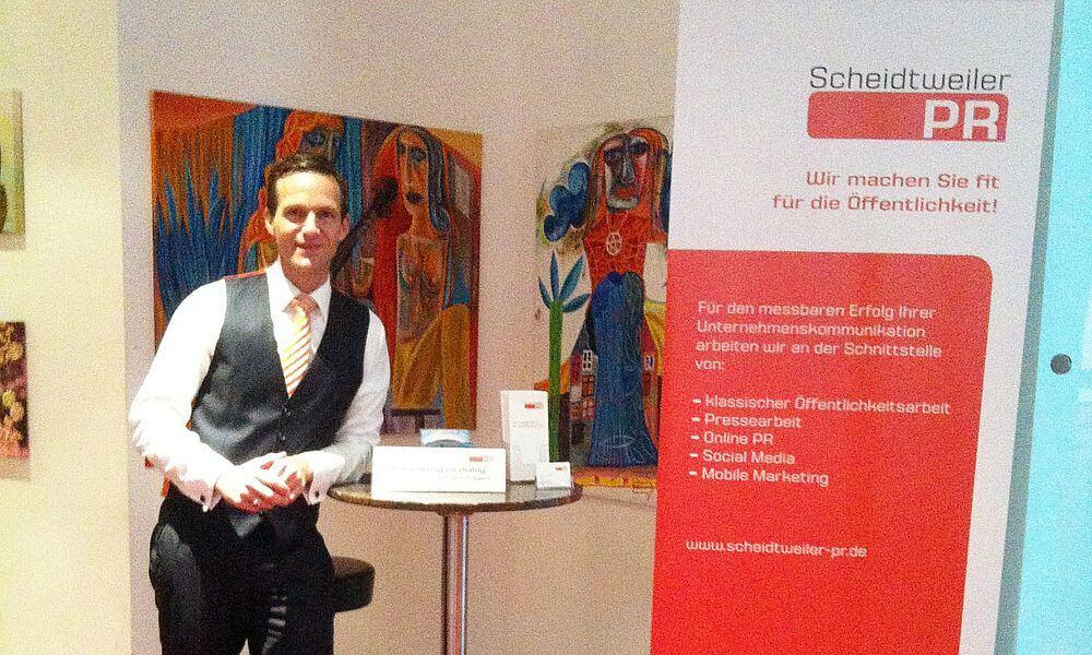 Gründer Nicolas Scheidtweiler beim B.E.G.IN Gründungstag 2012 Bremen