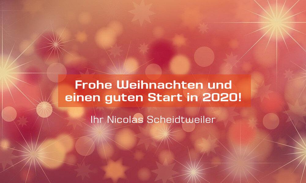 Nicolas Scheidtweiler wünscht frohe Weihnachten 2019